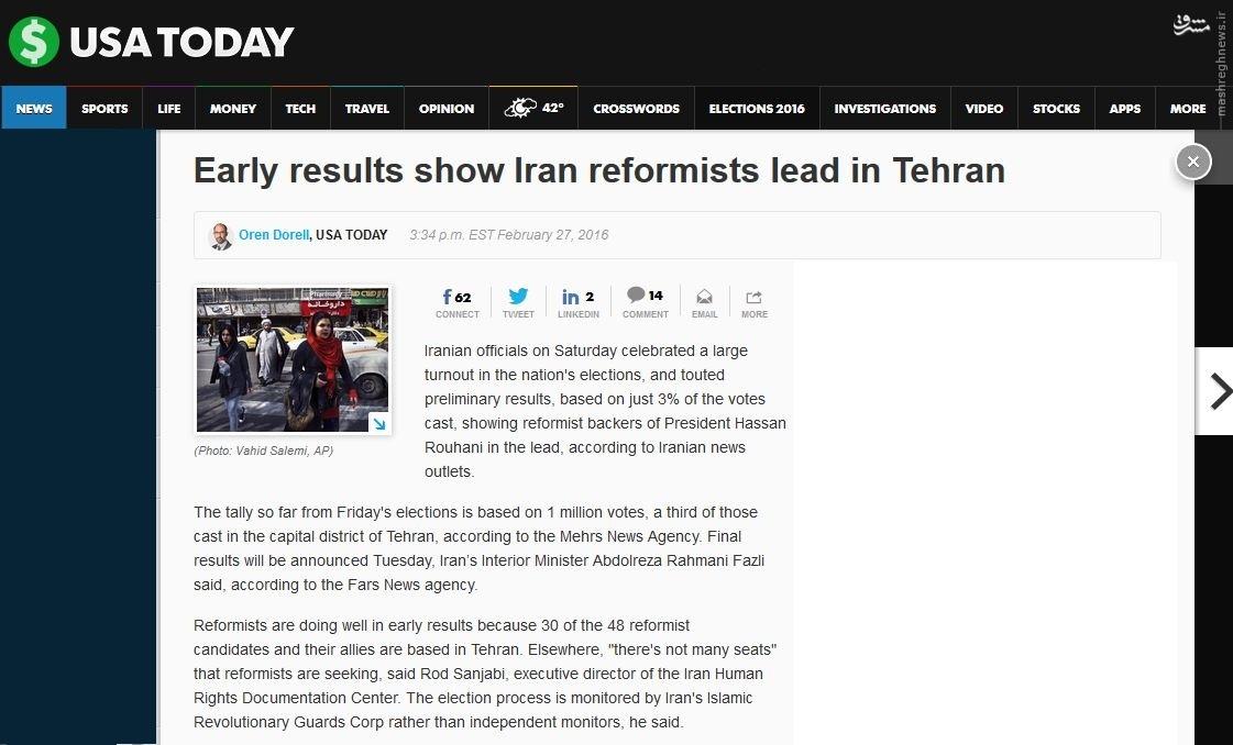 تحلیل رسانههای غربی از نتایج انتخابات ایران