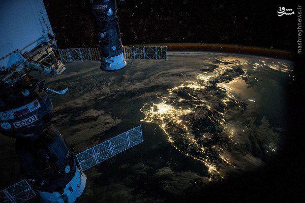 عکس/ ژاپن از ارتفاع ۴۰۰کیلومتری