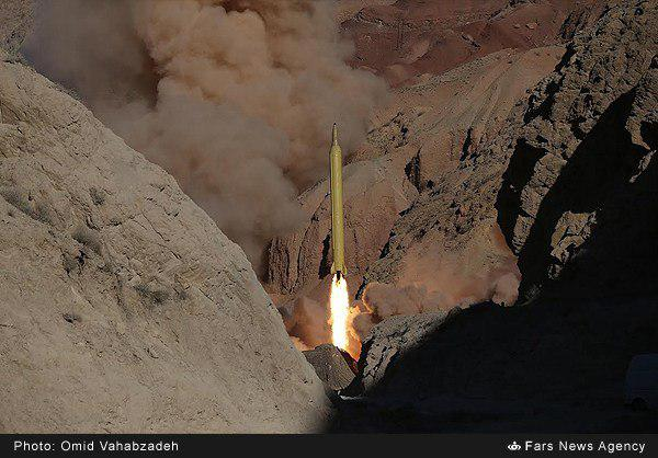شلیک دو فروند موشک قدر از ارتفاعات البرز
