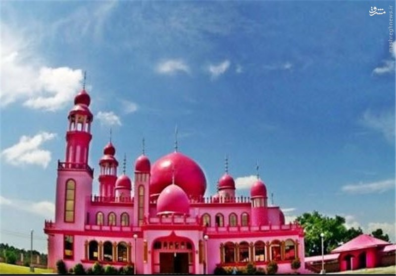 عکس/ تنها مسجد صورتی رنگ دنیا