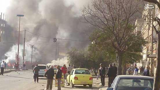 انفجار تروریستی در حمص+تصاویر