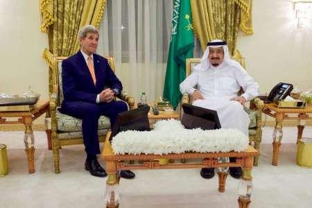 دیدار جان کری با پادشاه سعودی +عکس