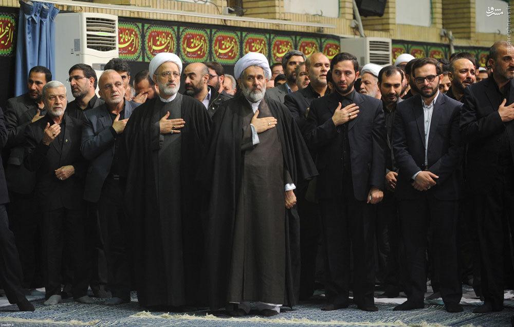 عکس/ پسران شهید همدانی در عزاداری ایام فاطمیه بیت رهبری
