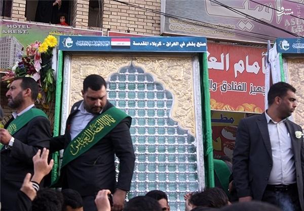 بابالقبله و ضریح جدید حرم حضرت عباس(ع) رونمایی شد +عکس
