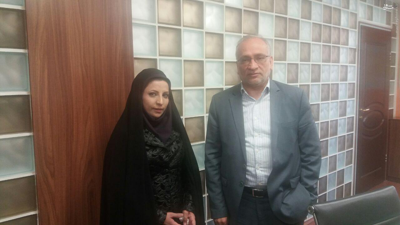 خانم کاندیدایی که با نورافکن آمده بود به دیدار اصلاحطلبان رفت