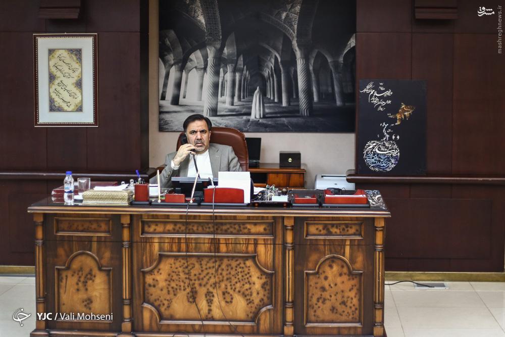 عکس/ دفتر کار وزیر راه
