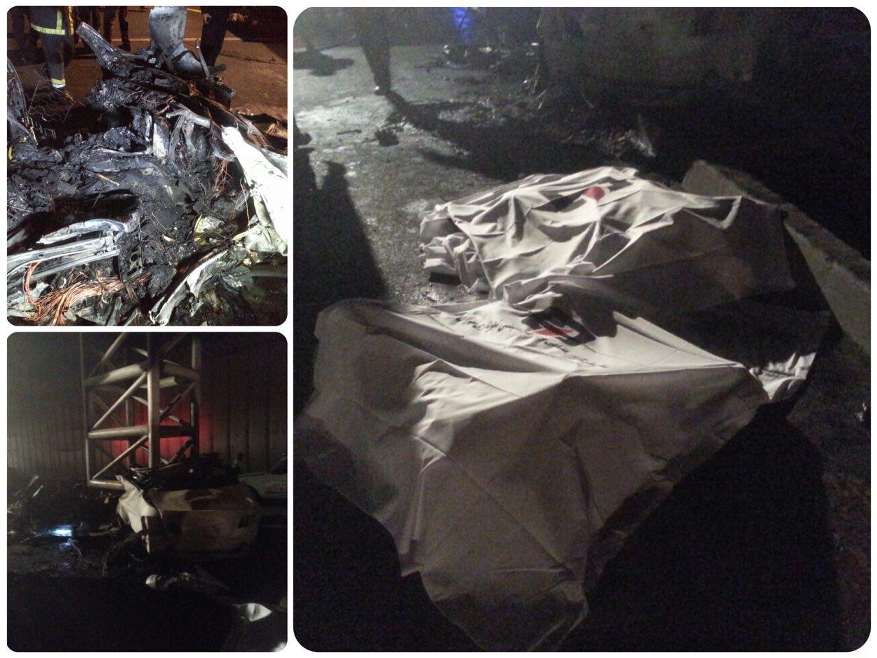 مرگ 3 نفر در تصادف مرگبار خودروی لوکس +عکس