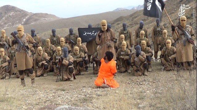 اعدام سرباز افغان توسط داعش+تصاویر