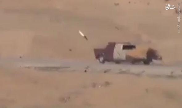 لحظه هولناک انفجار خودروی انتحاری داعش +تصاویر