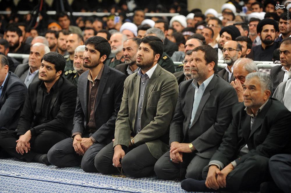 عکس/ فرزند شهید احمد کاظمی در دیدار امروز رهبری