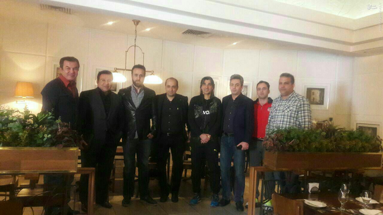 حسین هدایتی با علی کریمی و وحید شمسایی به فوتبال برمیگردد +عکس