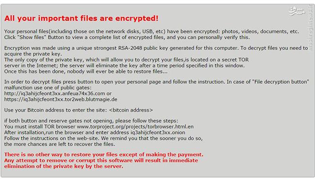 بدافزار بدافزار بدافزار باج گیر و بازیابی فایلهای آلوده 1058010 973