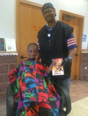 ابتکار یک آرایشگر سیاهپوست برای ترویج کتابخوانی