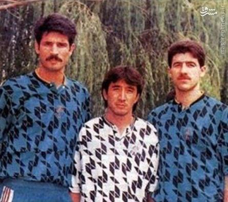 عکس کمتر دیده شده از مثلث اسطورهای فوتبال ایران
