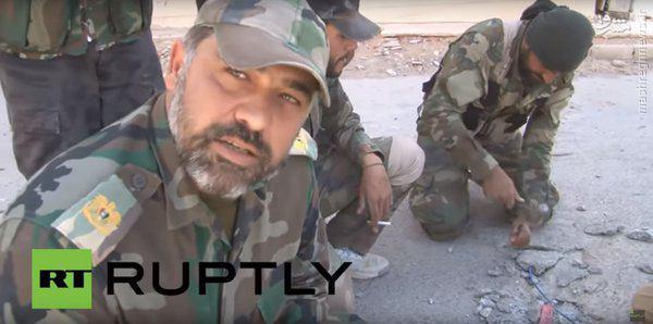 پاکسازی تدمر از تله های انفجار داعش+عکس و فیلم