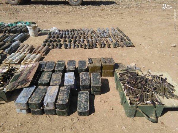کشف انبار سلاح و مهمات داعش در الانبار+عکس