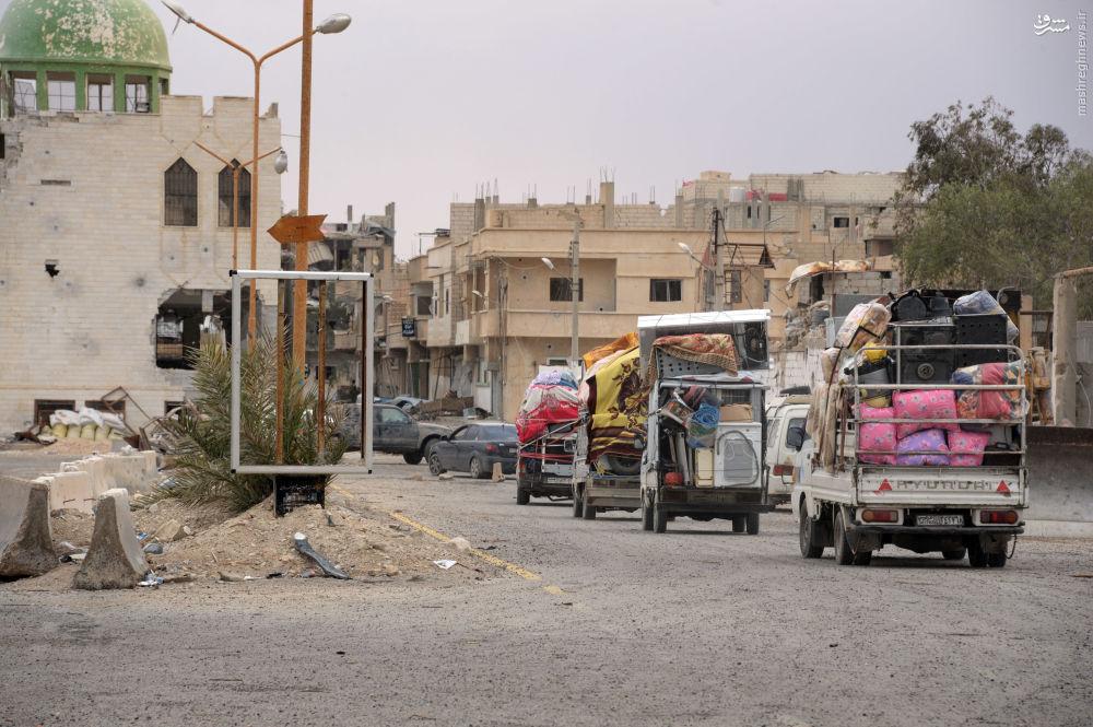 عکس/ بازگشت شهروندان سوری به تدمر