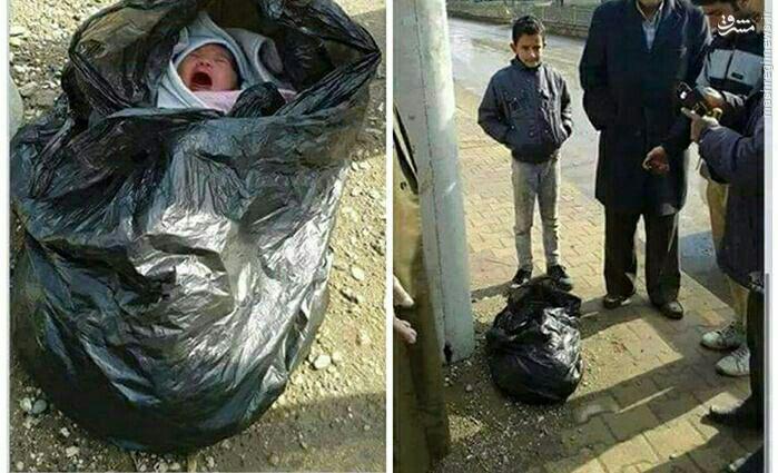 1544508 416 عکس/ پیدا شدن نوزاد دختر در کیسه زباله