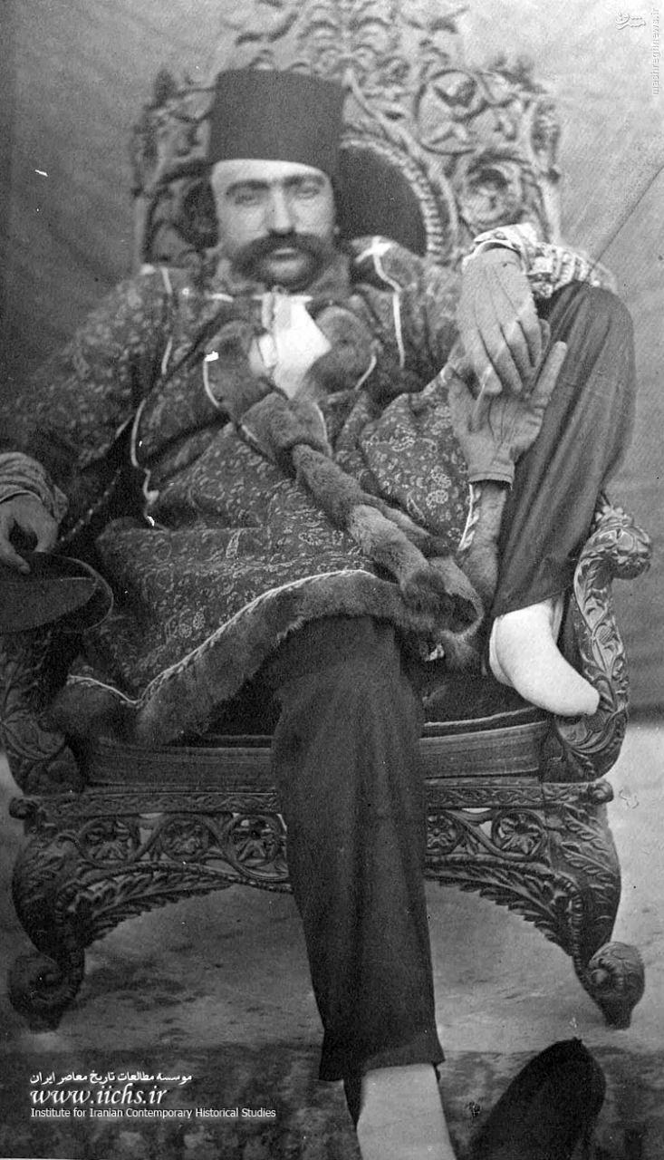 عکس خودمانی ناصرالدین شاه