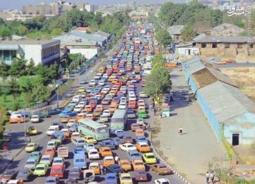 عکس/یک روز پرترافیک تهران در دهه 50