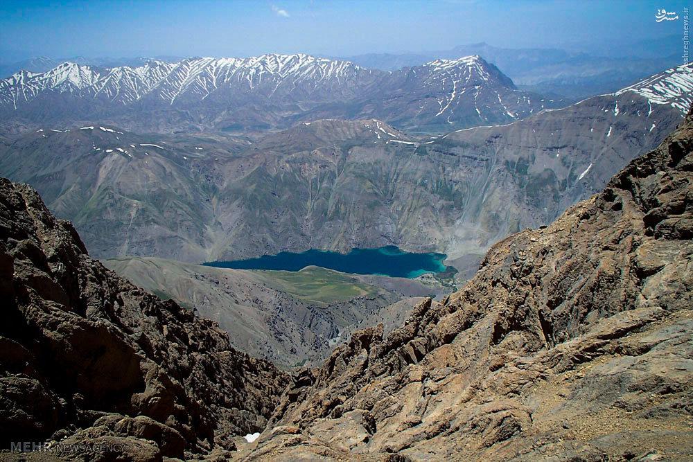 عکس/ نمایی زیبا از دریاچه گهر