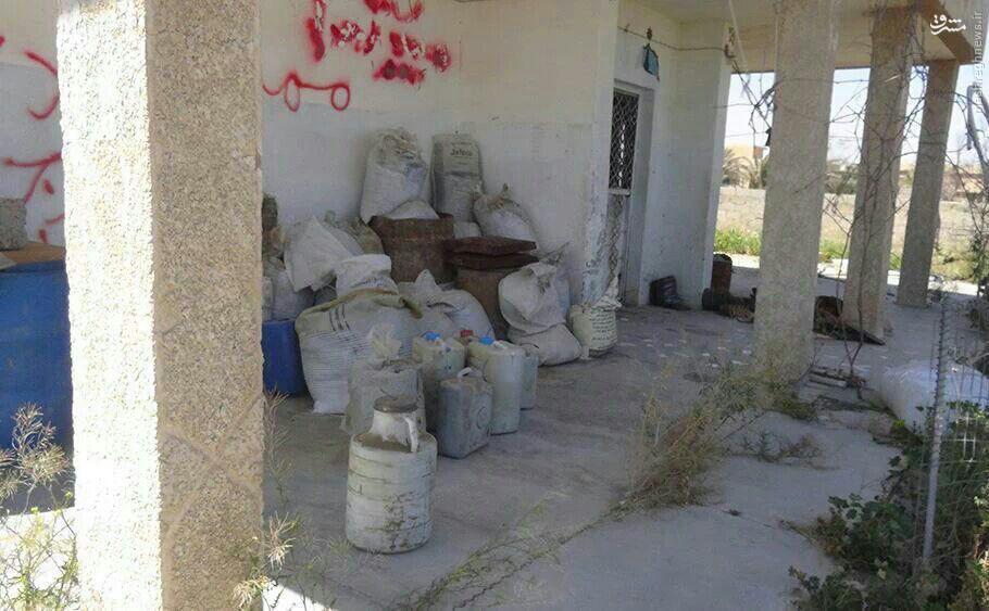 کشف انبار بمب در غرب سامراء+عکس