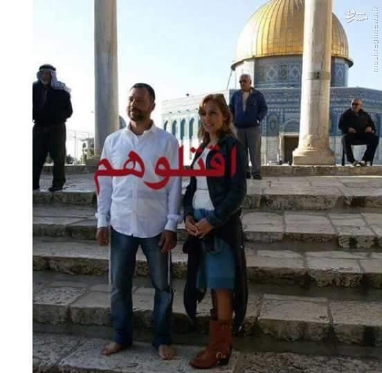 ازدواج دو صهیونیست در صحن مسحدالاقصی+عکس