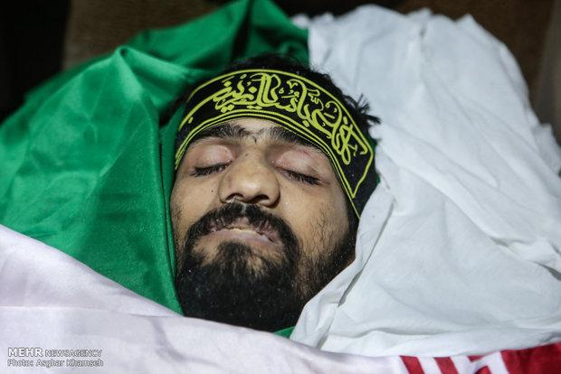 مراسم تشییع عمار بهمنی شهید مدافع حرم+ وصیتنامه