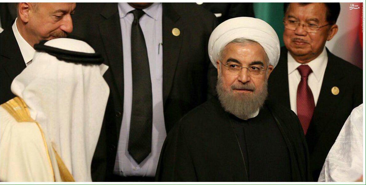 عکس/ نگاه معنادار روحانی به ملک سلمان
