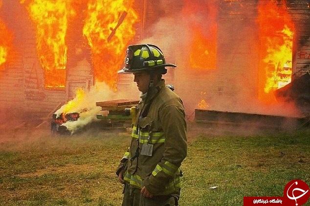 قتل آتشنشان در حین ماموریت +عکس