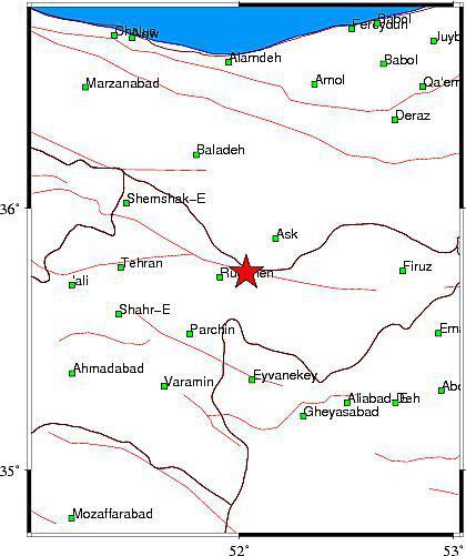 زلزله 3.3 ریشتری تهران را لرزاند