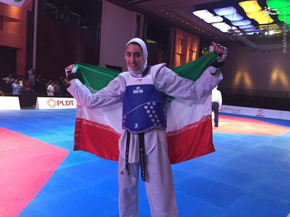عکس/طلای کیمیا علیزاده در مسابقات کسب سهمیه آسیا