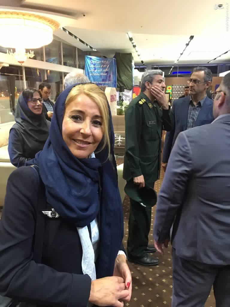 عکس/ پوشش مهماندار پرواز ایرفرانس در تهران