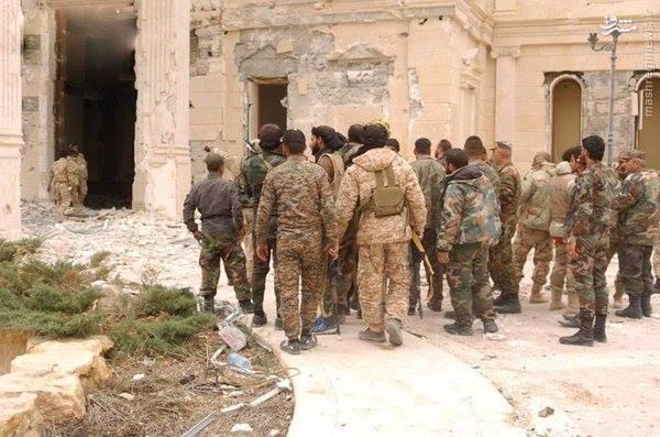 ورود ارتش سوریه به شهر تدمر+عکس