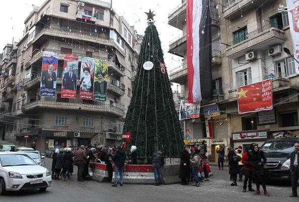 عکس/ عکسِ رهبر انقلاب در خیابانهای حلب