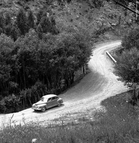 عکس/ جاده چالوس در ۷۵ سال پیش