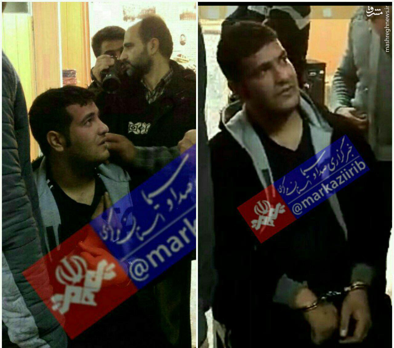عکس/ قاتل فراری اراک، پس از دستگیری