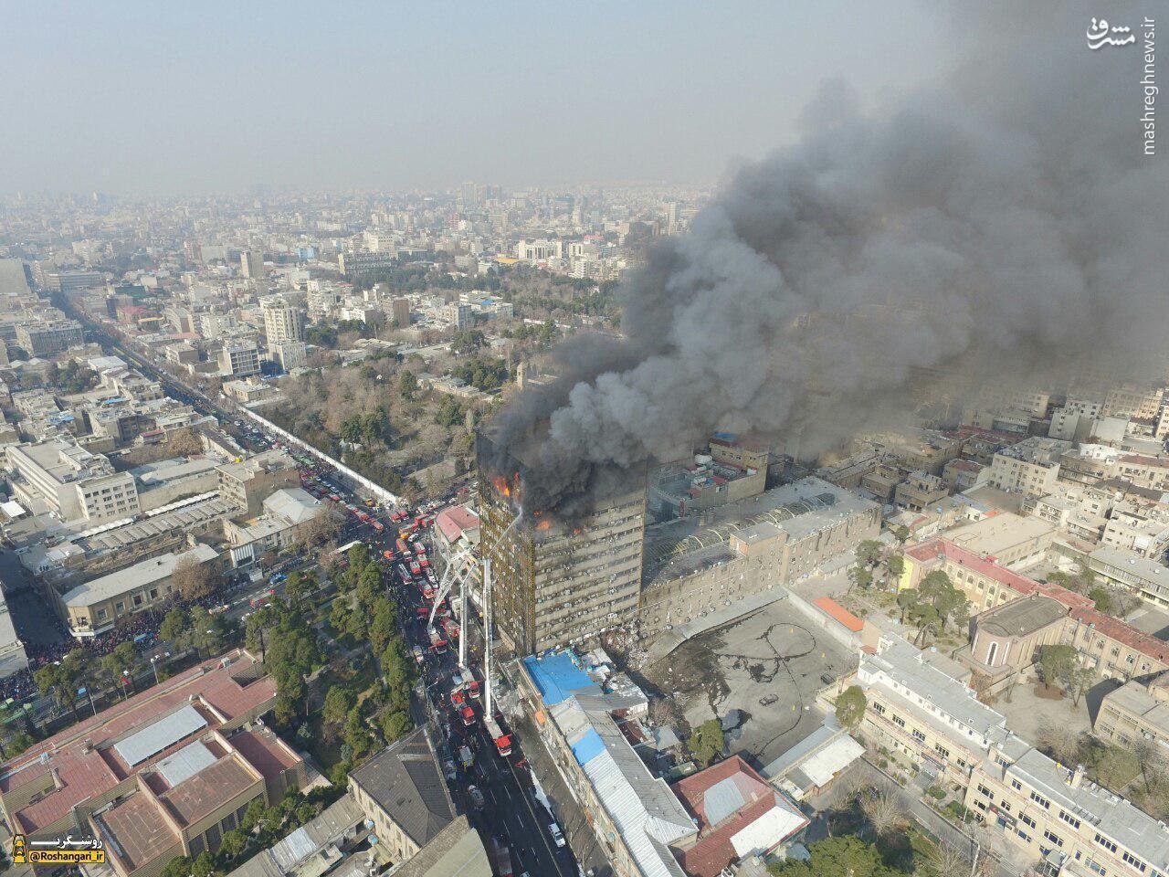 پلاسکو در میان دود و آتش