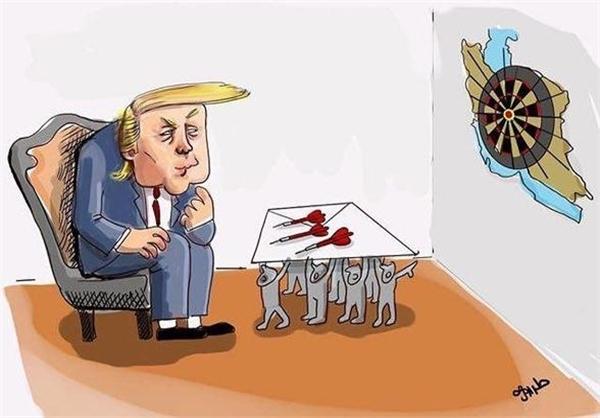 کاریکاتور/ درخواست ضدانقلاب از ترامپ برای تشدید تحریمها