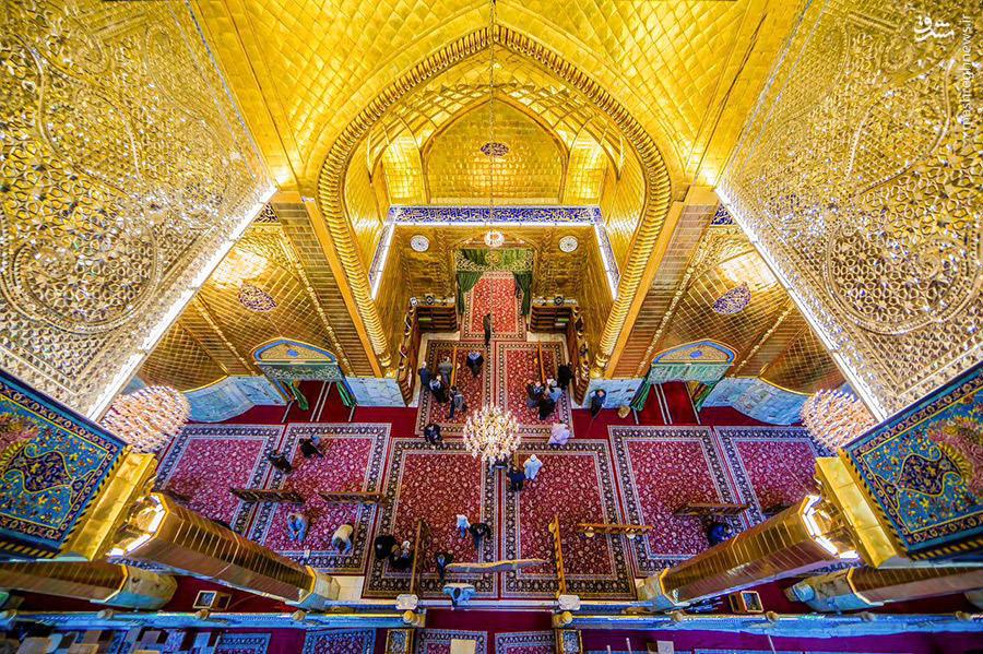 عکس/ نمایی زیبا از حرم امام حسین(ع)