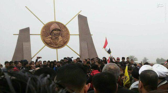 عکس/ سنگِ تمام عراقیها برای یک فرمانده ایرانی