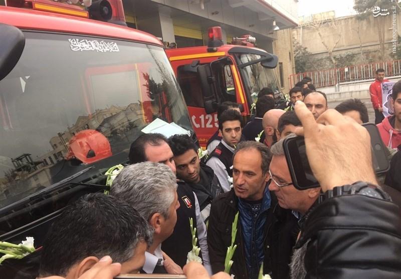 ادای احترام برانکو به آتشنشانان شهید +عکس