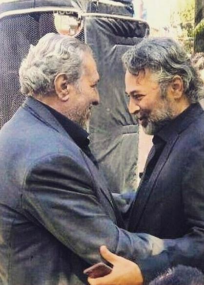 عکس/ 2 بازیگر مرحوم 45 روز پیش در آغوش هم