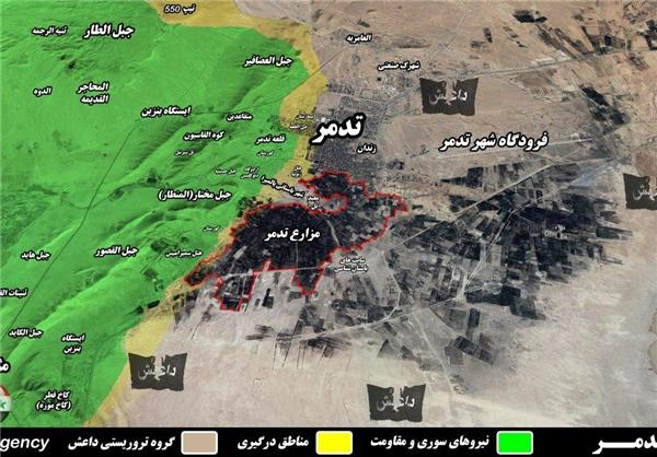 بمبگذاری منازل و نهادهای دولتی تدمر توسط داعش