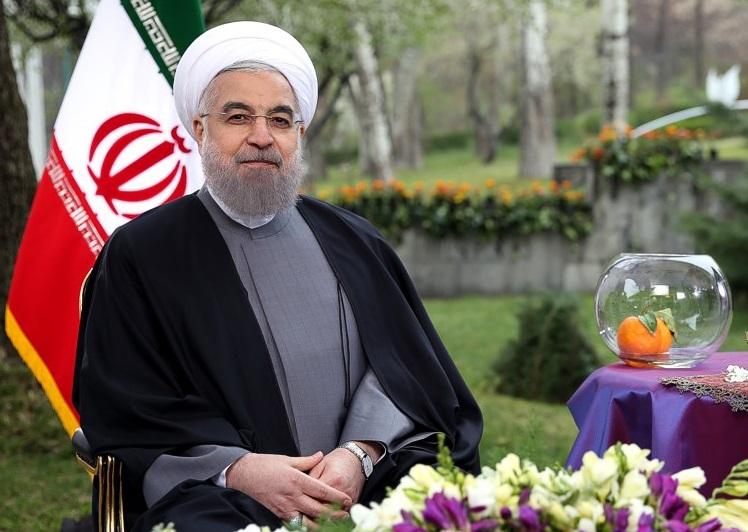 Image result for عکس رئیس جمهور روحانی عید