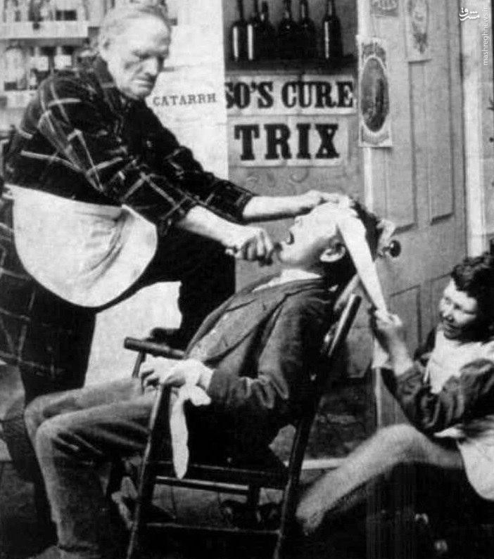 عکس/ عکس / کشیدن دندان در سال ۱۸۴۰ میلادیتاریخ انتشار : دوشنبه ۱۶ اسفند ۱۳۹۵ ساعت ۱۵:۳۰کد مطلب: 70875 تصویری از دندان کشیدن در سال ۱۸۴۰میلادی منتشر می شود.