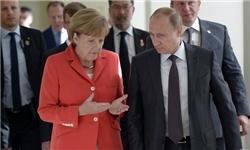 گفتگوی تلفنی پوتین و مرکل درباره اوکراین