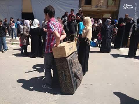 خروج مجروحان از 4 شهر سوریه+عکس