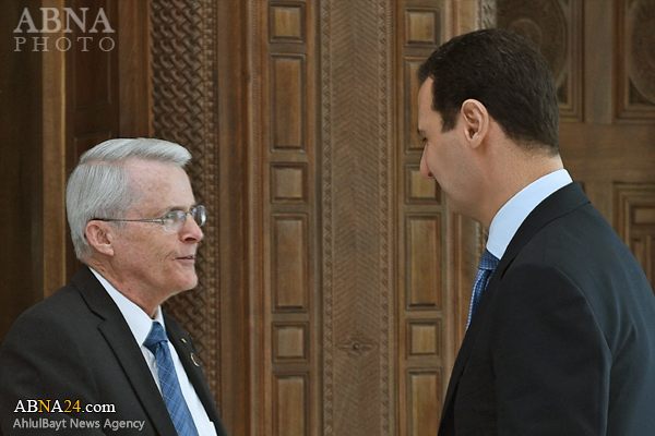 سناتور آمریکایی با بشار اسد دیدار کرد + عکس