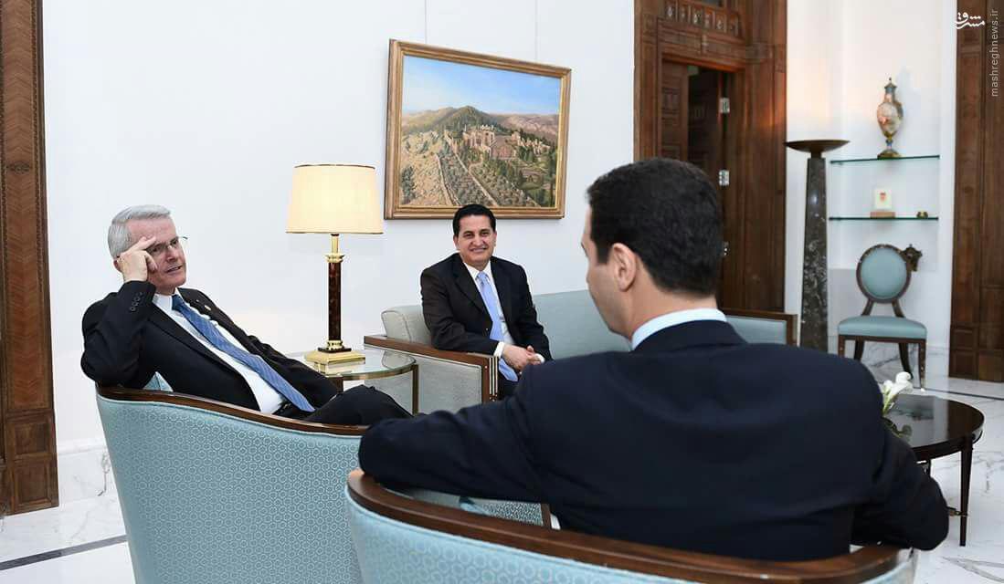 دیدار سناتور آمریکایی با رئیس جمهور سوریه+عکس